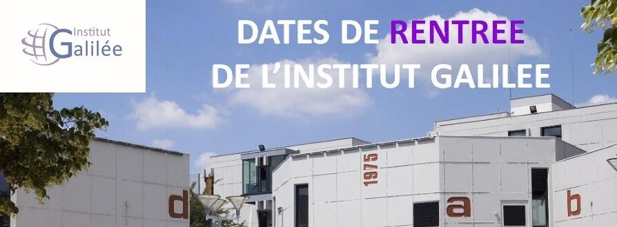Les dates  de pré-rentrée / rentrée