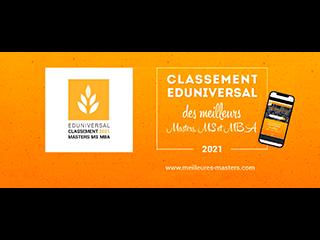 Eduniversal 2021 : classements des formations Master et Ingénieur de l'Institut Galilée