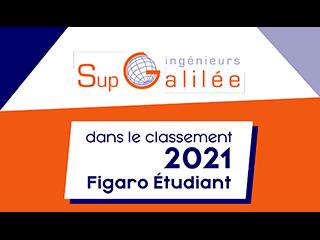 Classement de Sup Galilée au Figaro étudiant 2021