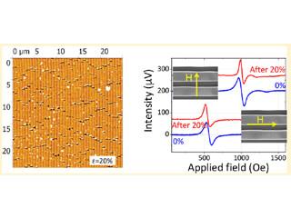 Des nanostructures magnétiques sur substrat polymère pour des systèmes flexibles fonctionnels.