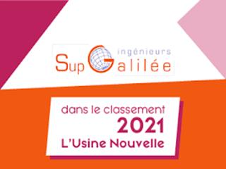 Classement de Sup Galilée à l'Usine Nouvelle 2021