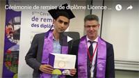 Cérémonie de remise de diplôme Licence Master